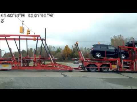 Driving from Washington Township, Michigan to Chesterfield Township, Michigan