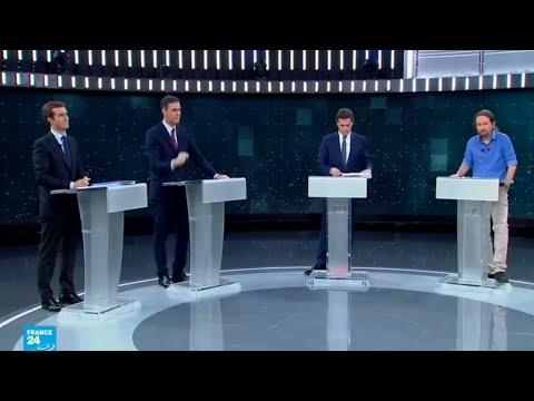مواضيع خلافية في أول مناظرة تلفزيونية لمرشحي الانتخابات التشريعية في إسبانيا  - نشر قبل 2 ساعة