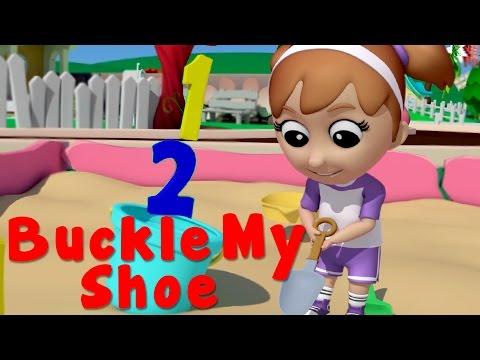one two buckle my shoe   nursery rhymes   3d rhymes   kids songs   childrens rhymes