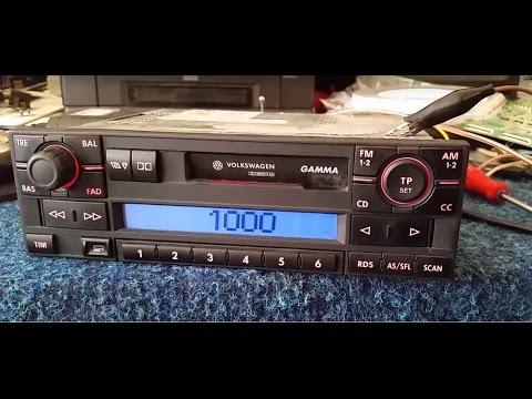 VOLKSWAGEN GAMMA BLAUPUNKT radio unlock code