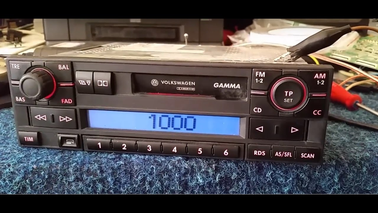 volkswagen gamma blaupunkt radio unlock code youtube. Black Bedroom Furniture Sets. Home Design Ideas