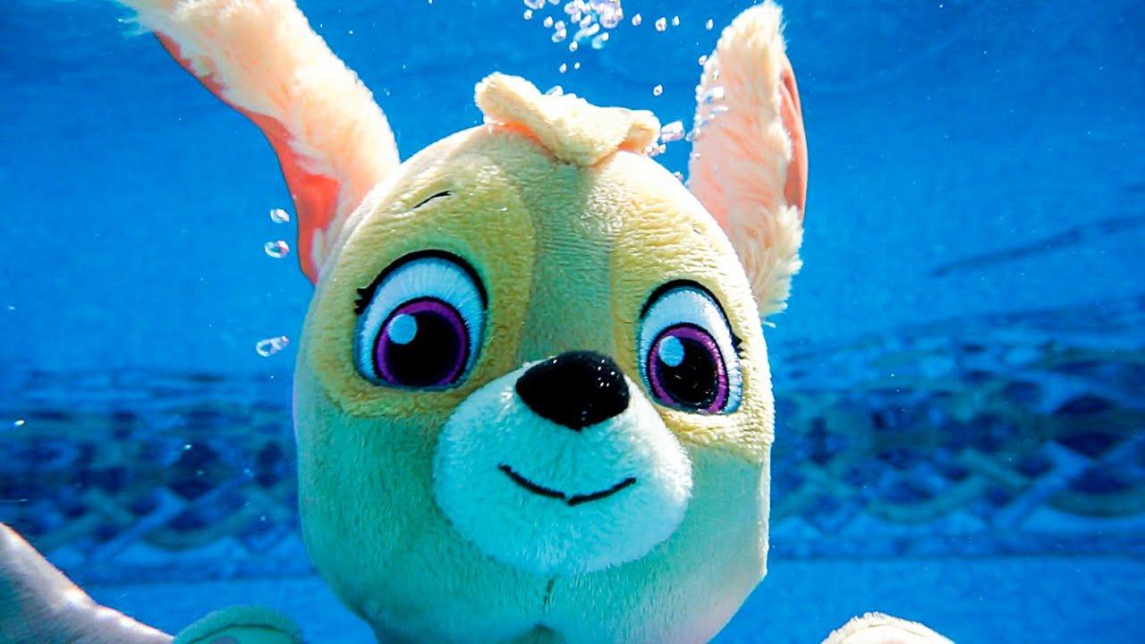 Peppa सुअर खिलौना बच्चों के लिए वीडियो सीखना - Peppa सुअर एक नया पूल हो जाता है और तैराकी जाता है!