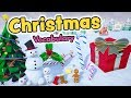 Christmas vocabulary in English for kids - Christmas words