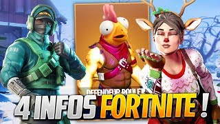 "THE NEIGE SE CONFIRME, DATE OF skin ""POULET"" - MORE ON FORTNITE! (Fortnite News)"