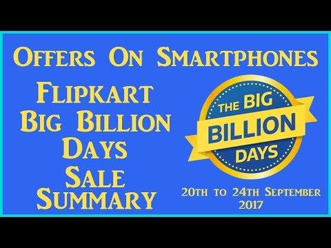 Flipkart Big Billion Days Sale 2017 │ September │ Mobile Offers │ Summary