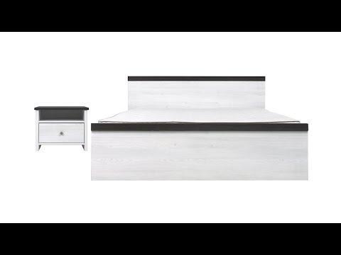 Кровать LOZ160x200 цвета джанни / сосна ларико