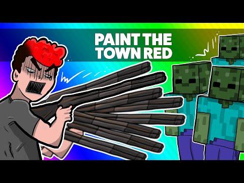 🔥 MINECRAFT ATAKUJE INNE GRY! NAGŁY ATAK ZOMBIE! | PAINT THE TOWN RED /w Hadesiak