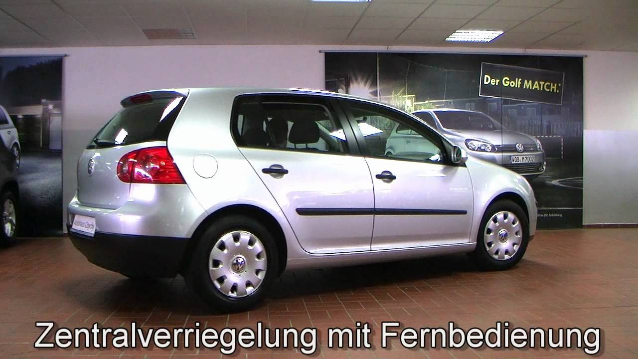 volkswagen golf v trendline 1 4 klima 2004 silber metallic youtube. Black Bedroom Furniture Sets. Home Design Ideas
