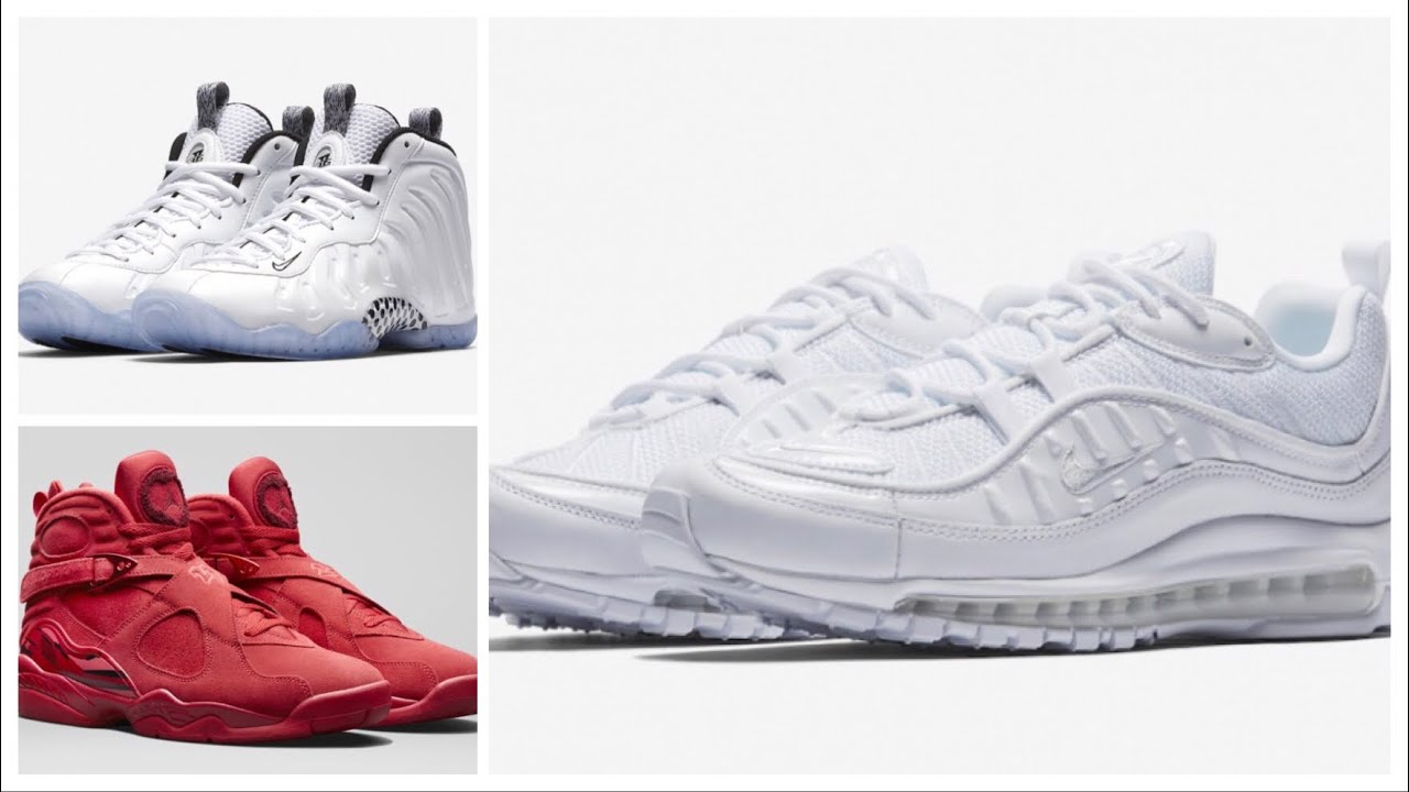brand new 8ed36 c70f8 AIR JORDAN 8 WMNS VALENTINE'S DAY, NIKE AIR MAX 98 TRIPLE WHITE AND MORE !