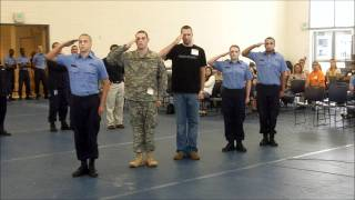 Knock Out Drill Between Current Cadets And Past Cadets