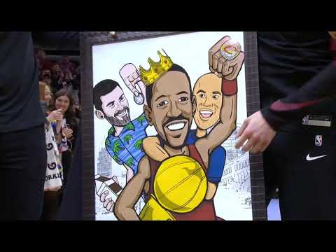 Allen Colon - CAVS honor Channing Frye on final season of his career