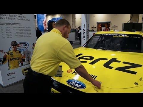 Hertz Brings #22 Joey Logano NASCAR to Las Vegas