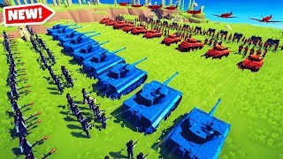 World War II Mod In TABS! UNITED STATES vs GERMANY (Totally Accurate Battle Simulator Gameplay)