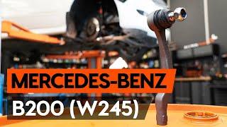 Stuurgewricht veranderen MERCEDES-BENZ B-CLASS: werkplaatshandboek