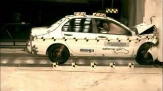 Crash Test 2006 Mitsubishi Lancer (Full Frontal Impact) NHTSA