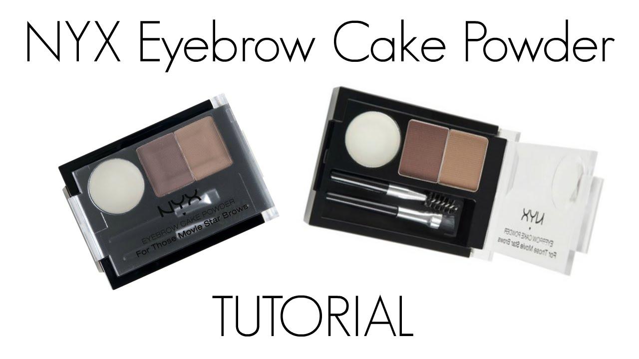 Nyx Eyebrow Cake Powder Tutorial Youtube