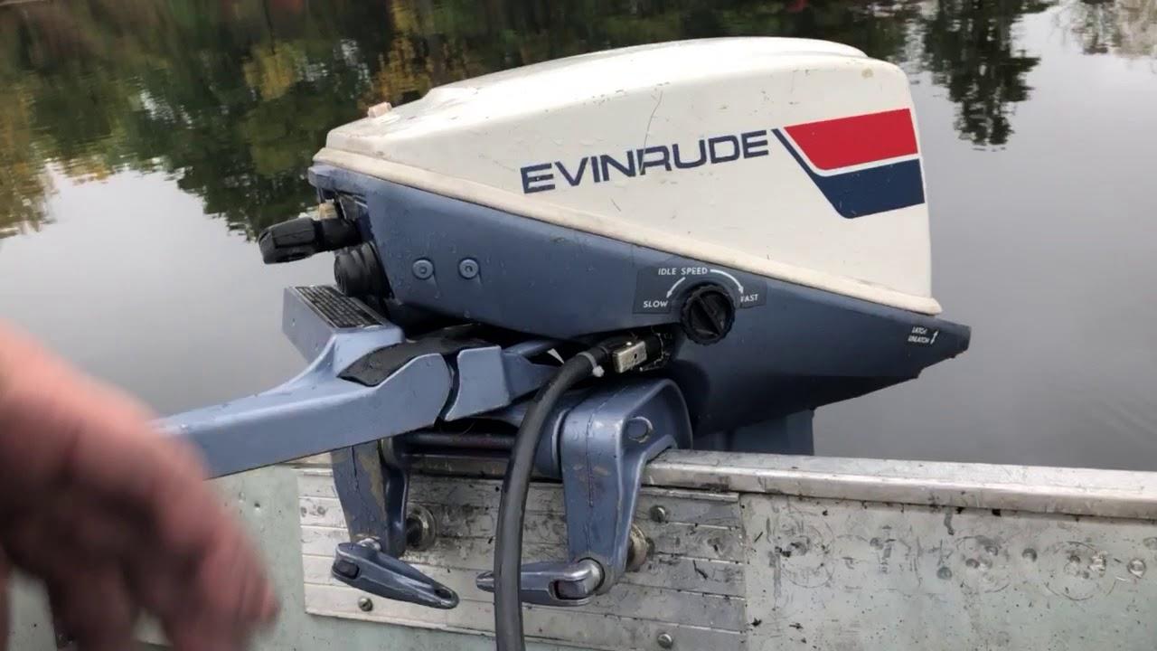 1974 Evinrude 15hp outboard motor