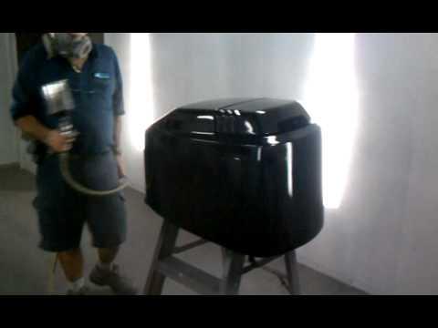 Yamaha Outboard Cowling Paint