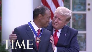 president-trump-presents-tiger-woods-presidential-medal-freedom-time