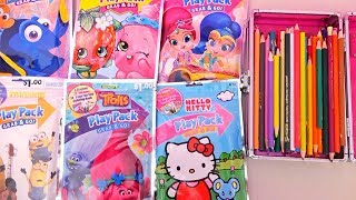 Speed Coloring Trolls, Hello Kitty, Shimmer & Shine, Shopkins, Finding Dory, and Minions