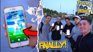 I FOUND THE FIRST EUROPEAN MEWTWO IN POKÉMON GO!  + HATCHING SPECIAL 2KM EGGS!
