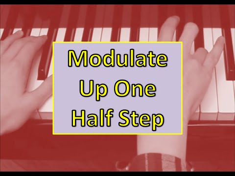How to Modulate 1 Semitone Up via the Diminished Seventh