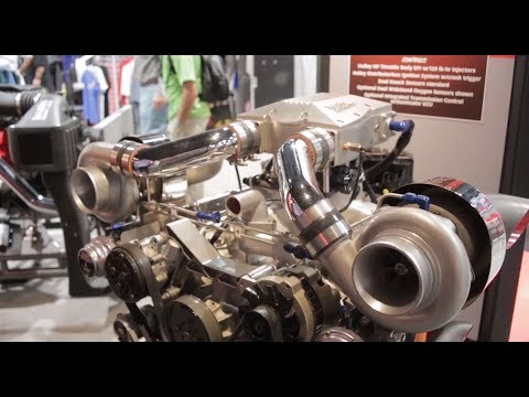 SEMA 2013 - Banks Power budget priced 800 hp turbo engine and internals to go along with it.
