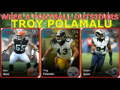 #MUT25 |  New Week 8 Football Outsiders | Limited Edition Troy Polamalu, Robert Quinn, & More