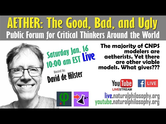 This Saturday: Aether: the Good, Bad, and Ugly - Discussion lead by David de Hilster