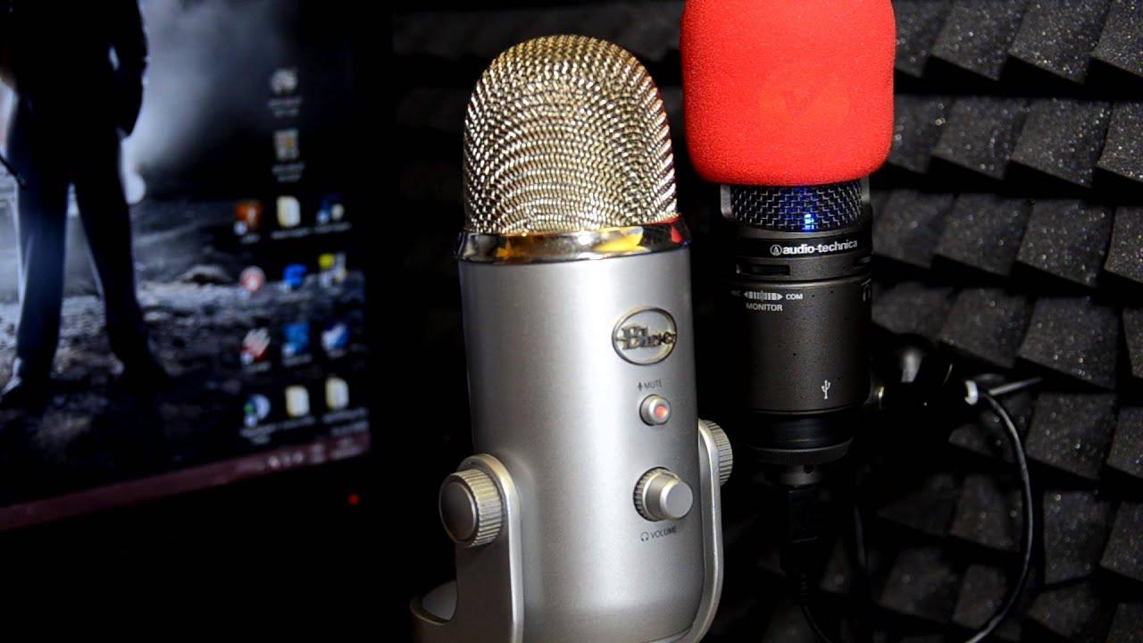 audio technica  usb  blue yeti usb microphone test youtube