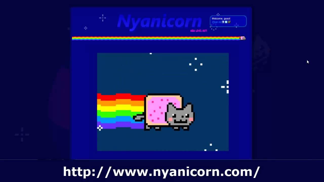 Летающий кот с радугой игра