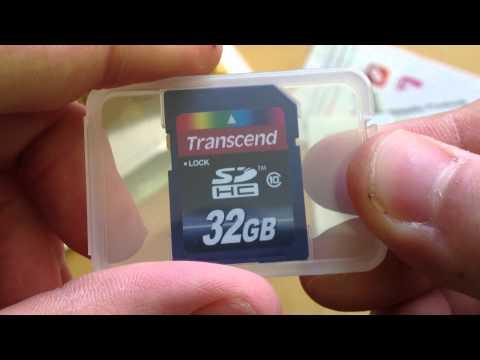Transcend SDHC 32GB Class 10 Speicherkarte Unboxing - felixba94