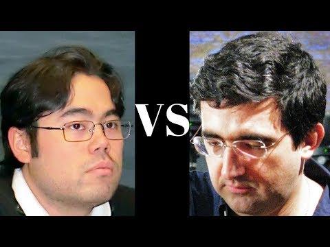 Amazing Chess Game : Hikaru Nakamura vs Vladimir Kramnik - Tense struggle to the end! - Oly.  2012