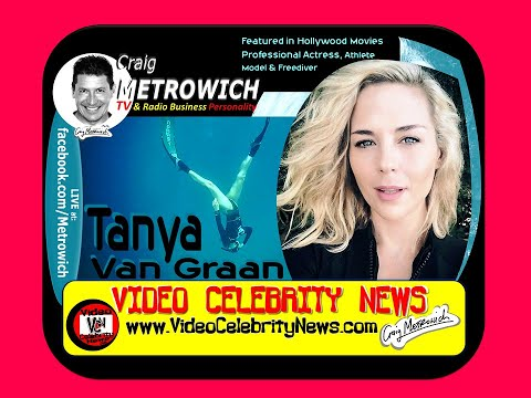 Tanya Van Graan Hollywood Actress in ACTION Freediving ed by Craig Metrowich
