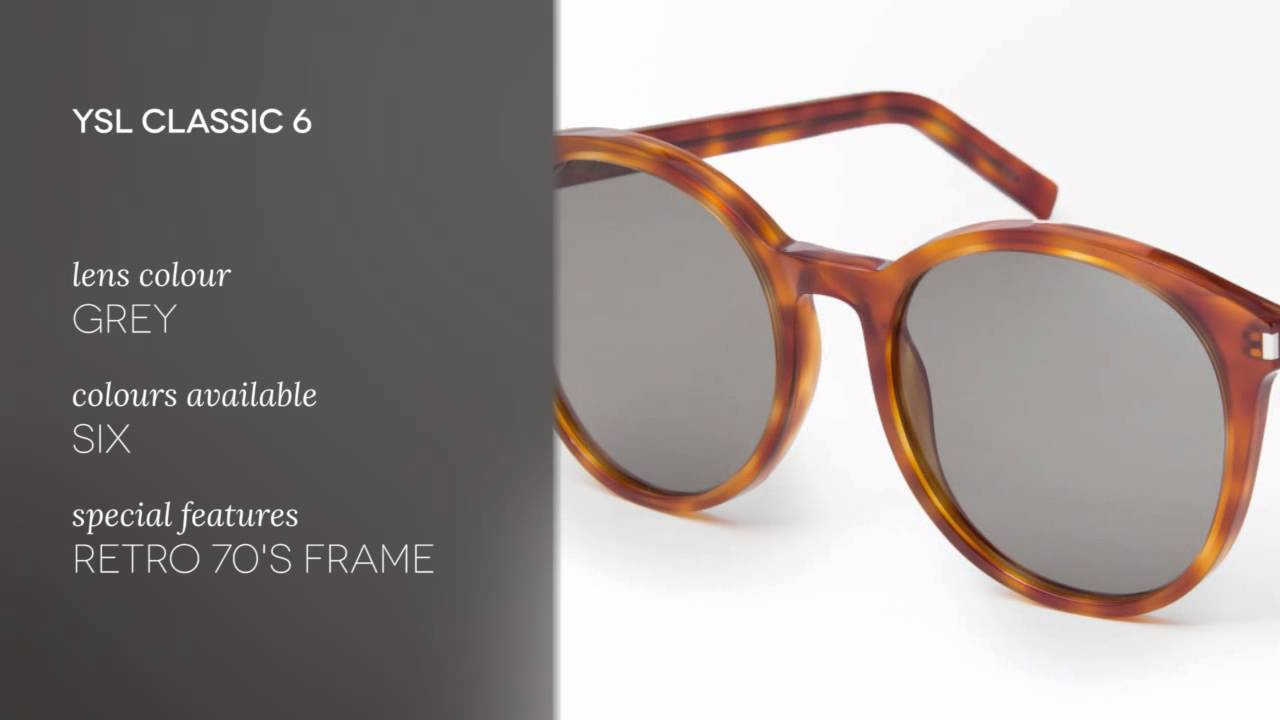 6ae4551d6c1 Yves Saint Laurent Sunglasses CLASSIC 6 919/5L Review - YouTube