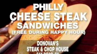 Donovan's Free Philly Cheese Steak During Happy Hour