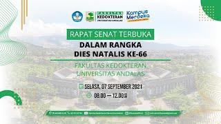 Rapat Senat Terbuka & Orasi Ilmiah Dies Natalis FK Unand Ke-66