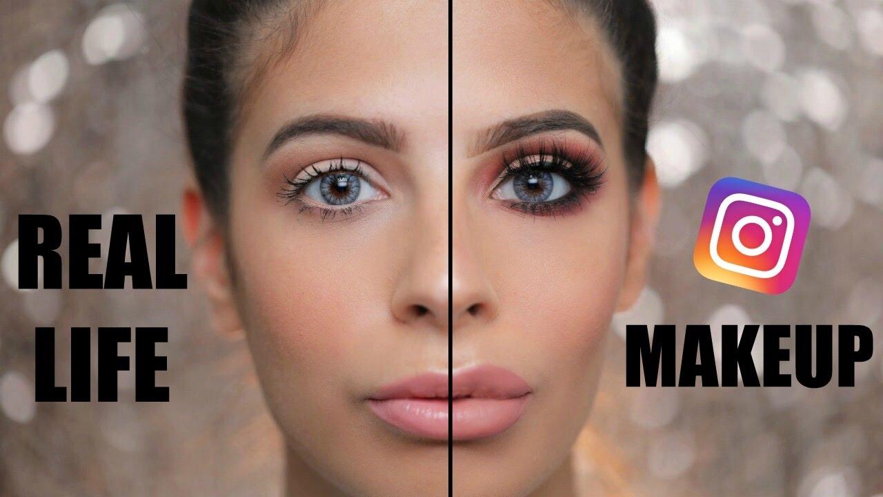 Instagram Makeup Vs Everyday Real Life