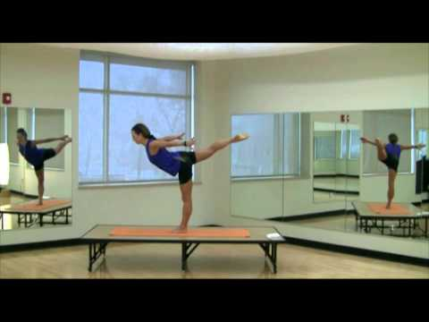 mini yoga workout 11 of 37 standing leg lifts t pose