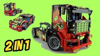 Decool 3360 608pcs Race Truck Car 2 In 1 Transformable Model Building Blocks Toys Sets (2019)