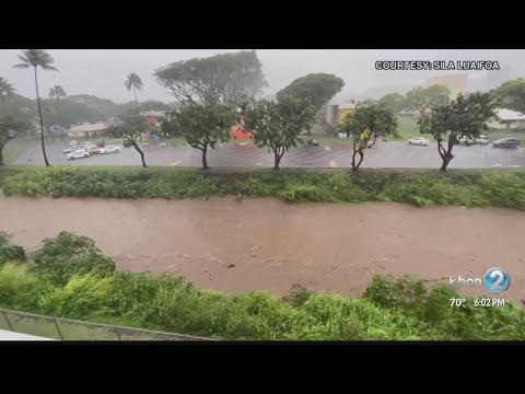 Rain continues in East Honolulu