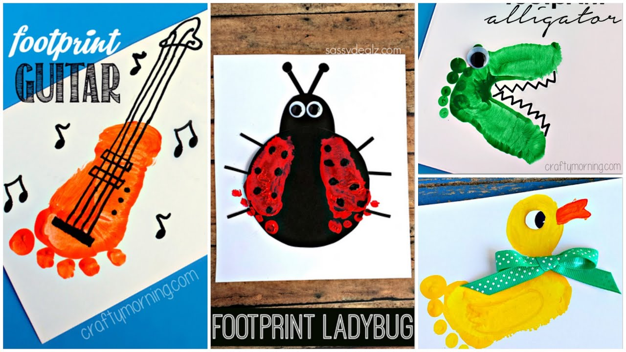 Adorable Footprint Crafts For Kids And Babies
