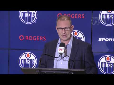 ARCHIVE   Keith Gretzky speaks at Oilers Trade Deadline Press Conference