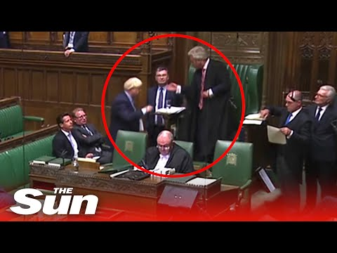 Boris Johnson SNUBS Bercow and walks out of Commons