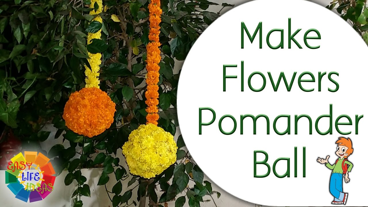 Make Flowers Pomander Ball Marigold Hanging Ball From