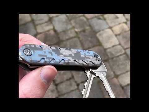 KEY-ARMOR Minimalist Pocket Key Organizer - Custom CAMO Finish Option
