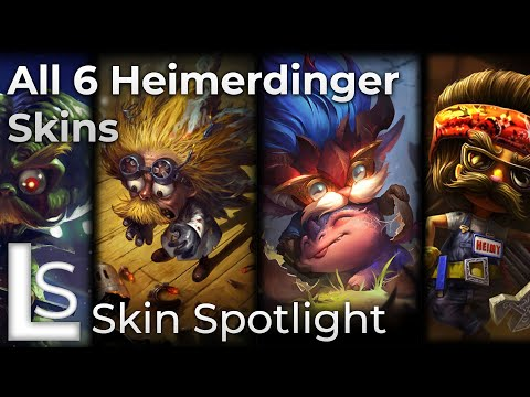 ALL HEIMERDINGER SKINS - Skin Spotlight - League of Legends - Patch 10.8.1