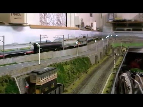 UK Model railway dcc sound and faller car system @ Gardenia street