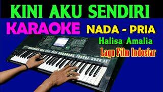 Download lagu KINI AKU SENDIRI - Halisa Amalia | KARAOKE Nada Pria || Lirik, HD