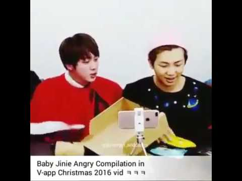 Jin Angry Compilation  in V app Christmas 2016